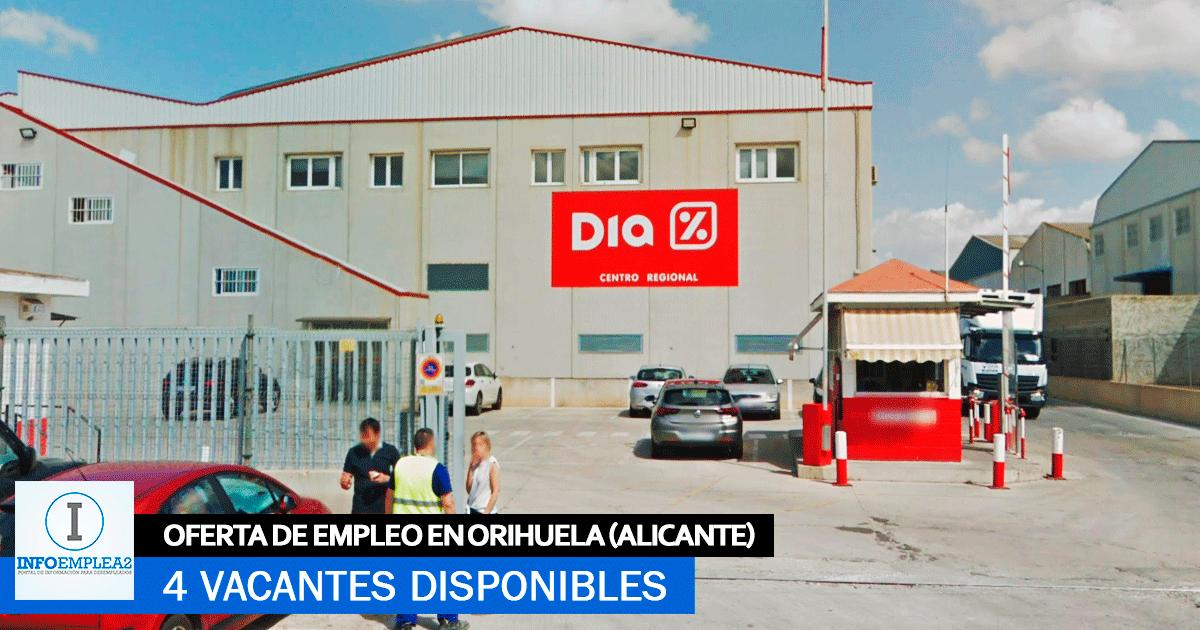 Se necesita Personal en Orihuela (Alicante) para trabajar en Almacén DIA