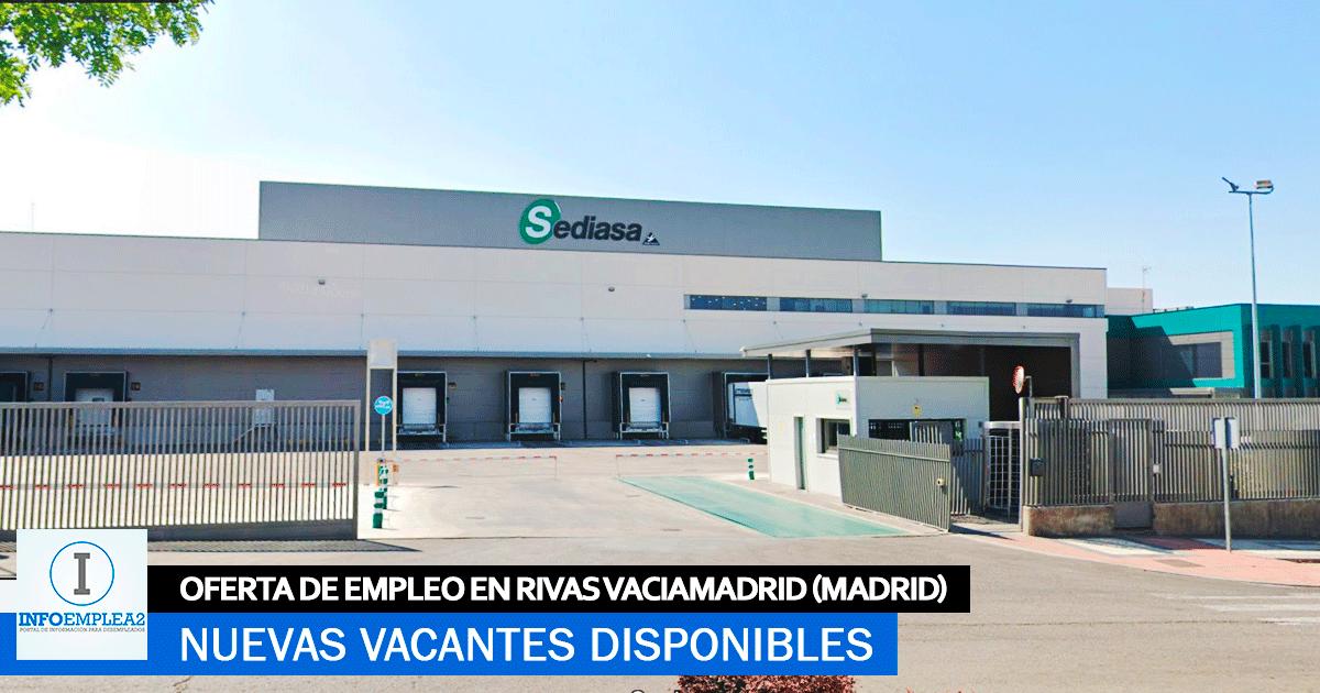 Se necesita Personal en Rivas Vaciamadrid para Sediasa