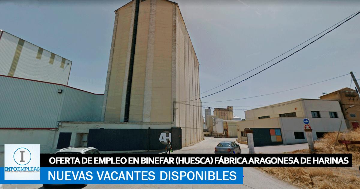 Se Necesita Personal en Binéfar (Huesca) para la Fábrica Aragonesa de Harinas