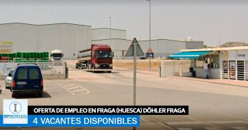 Se Necesita Personal en Fraga (Huesca) para Fábrica DÖHLER FRAGA