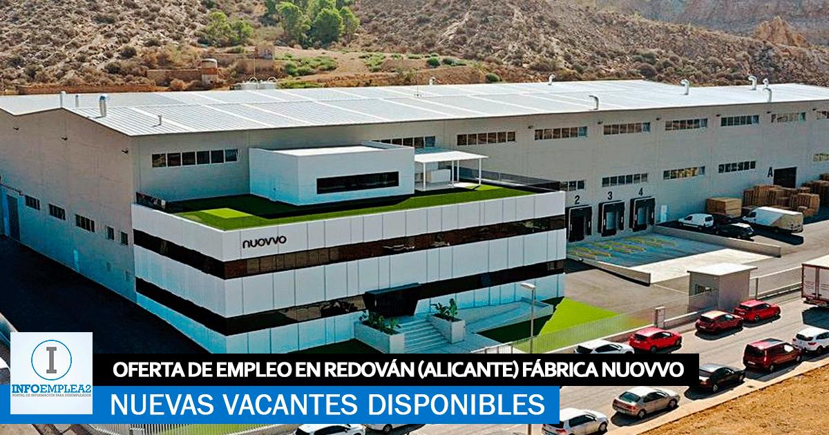 Se Necesita Personal en Redován (Alicante) para la Fábrica NUOVVO