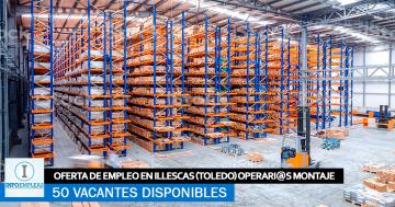 Se Necesitan 50 Trabajadores en Illescas (Toledo) para Montaje de Almacenes