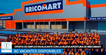 Se Necesitan 80 Personas en Alicante para Trabajar en la Nueva Apertura de BRICOMART
