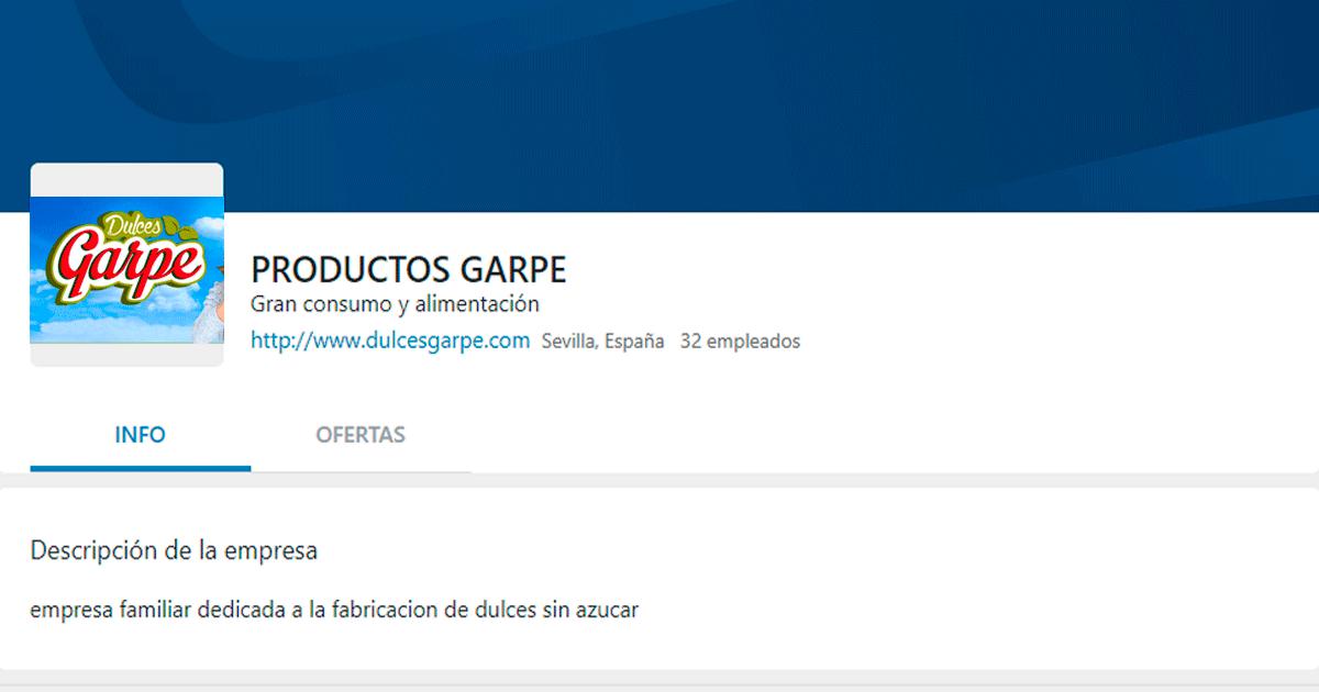 Se Necesitan 5 personas para Trabajar en la Fábrica de Productos GARPE ubicada en el municipio de Herrera, Sevilla