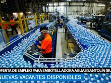 Se necesita Personal para la Embotelladora de Aguas de Santolín en Burgos