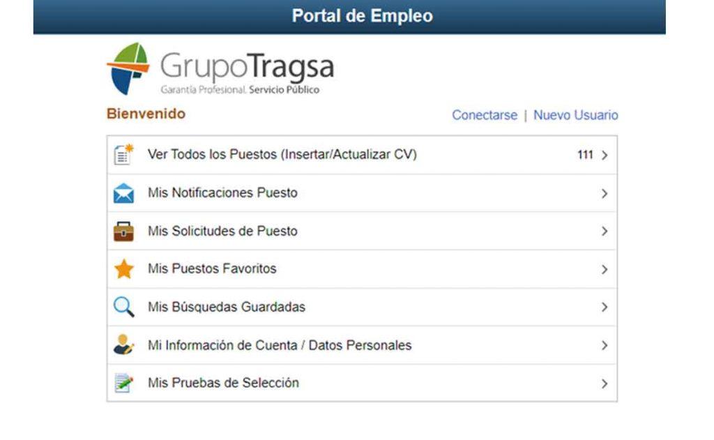 portal de empleo grupo Tragsa