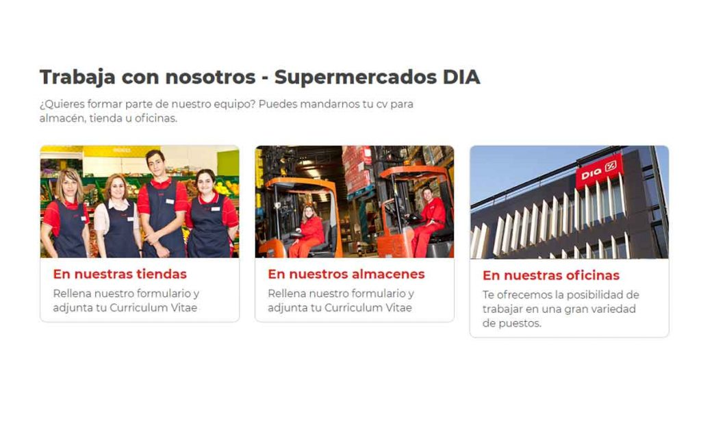 portal de empleo Grupo Dia