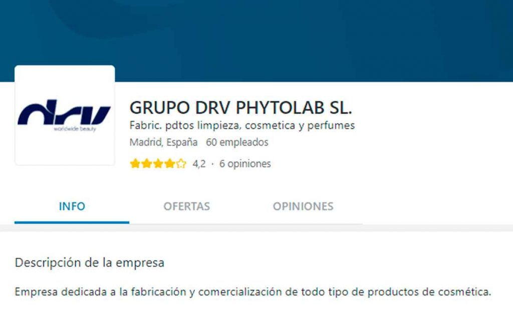Portal de empleo Grupo DRV