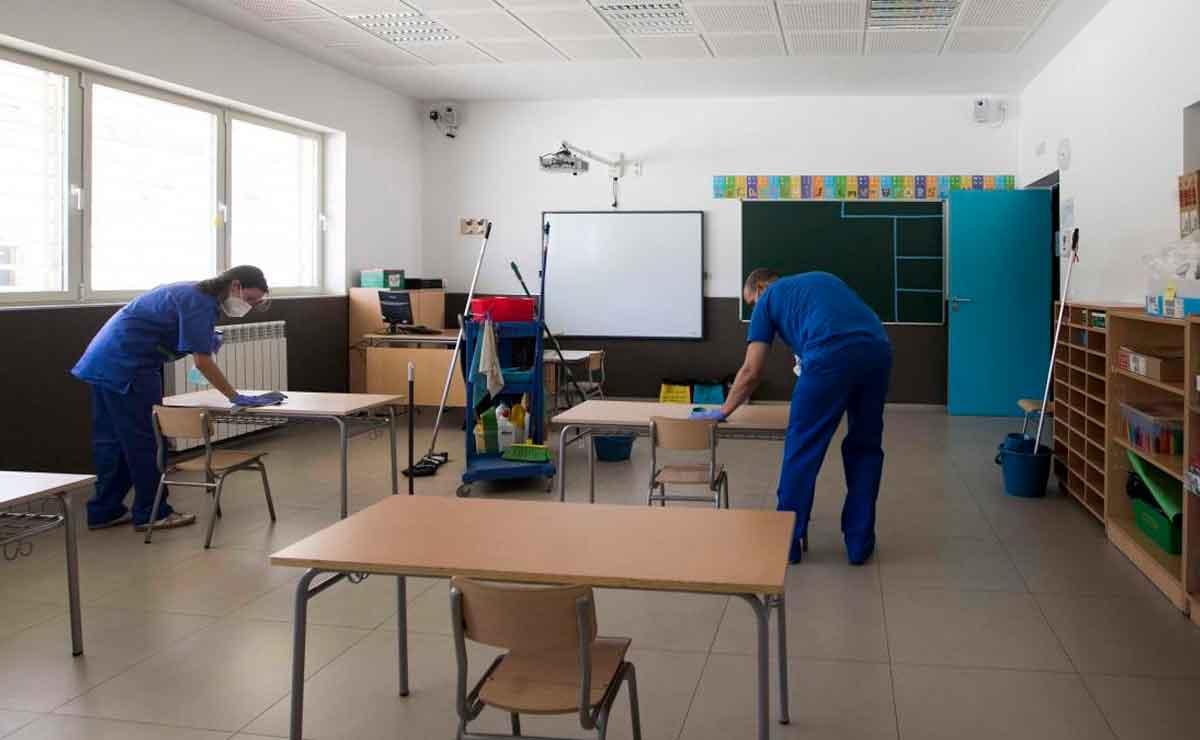 limpieza en colegios en Mostoles